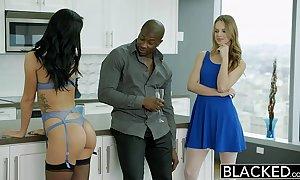 Blacked 2 girlfriends jillian janson together with sabrina banks kitchen garden a predominating dark do in