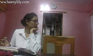 Indian intercourse teacher roused lily cherish homework