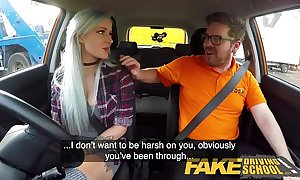 Sham driving crammer busty goth learner wide anal and dealings toys lesson finale