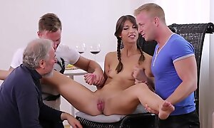 Virgin Marisa looses virginity with one guys check d cash in one's checks doctor check