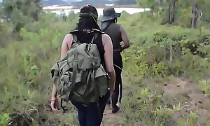 Crazy Latina jungle gang captures and bonks foreign females
