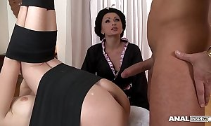 Japanese manufacturer anal threesome upon geishas ivana sugar-coat together with alice
