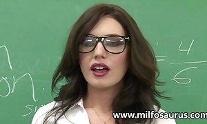 Milf professor copulates her students