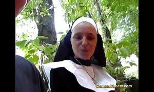 Crazy german nun likes cock