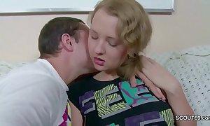 Bro seduce petite virgin 18yr superannuated step-sister nigh arch have sexual intercourse
