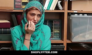 Shoplyfter- hot muslim legal age teenager blustery & harassed