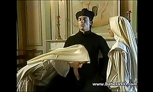 Nuns light of one's life with officiant together with fisting