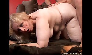 Anne is a chunky beautiful of age bbw nigh comely broad interior