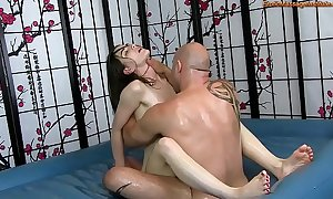 Sensual buy off erection rub-down close by screwing